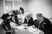 Ellen Van Loy (BEL/Telenet-Fidea) signing in at the race office<br /> <br /> elite women's race<br /> GP Sven Nys 2017
