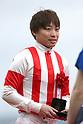 Kenichi Ikezoe,<br /> APRIL 9, 2017 - Horse Racing :<br /> Jockey Kenichi Ikezoe after riding Reine Minoru to win the Oka Sho (Japanese 1000 Guineas) at Hanshin Racecourse in Hyogo, Japan. (Photo by Eiichi Yamane/AFLO)