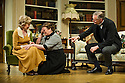 Bath, UK. 17.06.2013. RELATIVE VALUES, by Noel Coward, opens the 2013 summer season at the Theatre Royal Bath. Picture shows: Patricia Hodge (Felicity, Countess of Marshwood), Rory Bremner (Crestwell, the butler) and Caroline Quentin (Moxie, the housemaid). Photograph © Jane Hobson.