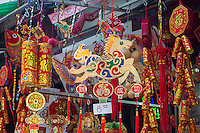 Year of the Horse souvenirs on sale in Chinatown in New York for Chinese New Year on Friday, January 31, 2014. The gala features dragon dancing troupes and other festivities ushering in the Year of the Horse, 4712 in the Lunar calendar. New York is deciding for the first time whether to decree Chinese New Year as a school holiday. The state requires schools to provide 180 days of instruction a year. On the Lunar New Year many Asian families do not send their children to school but take off the holiday to traditionally visit family and eating meals of auspicious foods.The city already suspends Alternate Side of the Street Parking. (© Richard B. Levine)