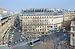 The Place Andre Malraux, Paris, located at the southern end of the Rue de l'Opera, as seen from a room in the Hotel du Louvre.