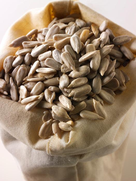 sunflower seeds ( helianthus annuus) - stock photos.