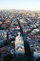 Iglesi Purisima Corazon de Maria en la colonia Del Valle, Aerial photography. Mexico City, Mexico