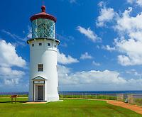 Kauai, HI:  Kilauea Point Lighthouse at Kilauea National Wildlife Refuge on Kauai's north shore