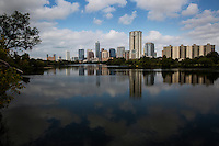 The Boardwalk Trail at Lady Bird Lake offers perfect views of the new downtown Austin Skyline.