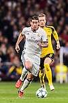 James Rodriguez of Real Madrid in action during the 2016-17 UEFA Champions League match between Real Madrid and Borussia Dortmund at the Santiago Bernabeu Stadium on 07 December 2016 in Madrid, Spain. Photo by Diego Gonzalez Souto / Power Sport Images
