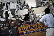A horse carraige waits for customers outside the Taj Hotel's hertiage wing in Mumbai, India. Photograph: Sanjit Das