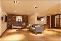 BNPS.co.uk (01202 558833)<br /> Pic: Jackson-Stops/BNPS<br /> <br /> ****Must use full byline****<br /> <br /> One of the two luxurious lounges.<br /> <br /> A stunning cliff-top house has grown into a 1.25 million pounds property after it was built on a disused allotment.<br /> <br /> Jamie and Zoe McLintock forked out &pound;80,000 for the overgrown plot of land eleven years ago because it was atop a cliff along Devon's craggy coastline.<br /> <br /> The enterprising couple spent a further &pound;600,000 and three years of their time building the beautiful five-bedroom pad.<br /> <br /> But they are now set to double their money after the incredible property went on the market for a whopping &pound;1.25 million with estate agents Jackson-Stops.<br /> <br /> The white-washed three-storey house is perched on top of 100ft cliffs overlooking Tunnels Beaches in Ilfracombe, a stretch of private Victorian beach owned by the couple since 2001.