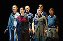 Edinburgh, UK. 16.08.2013. ON BEHALF OF NATURE, by Meredith Monk and Vocal Ensemble, opens at the Lyceum, as part of the Edinburgh International Festival. The ensemble comprises: Ellen Fisher, Sidney Chen, Katie Geissinger, Bohdan Hilash, John Hollenbeck, Bruce Rameker, Allison Sniffin and Meredith Monk. Photograph © Jane Hobson.