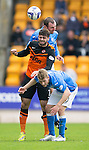 St Johnstone v Dundee United...09.05.15   SPFL<br /> Nadir Ciftci gets caught between Dave Mackay and David Wotherspoon<br /> Picture by Graeme Hart.<br /> Copyright Perthshire Picture Agency<br /> Tel: 01738 623350  Mobile: 07990 594431
