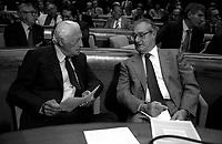Roma '90. Gianni Agnelli, Cesare Romiti Fiat SpA.Assemblea Confidustria