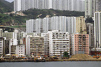 Hong Kong: High rises for the millions, climbing hills. Photo '81.