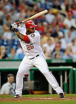 10 July 2008: Washington Nationals' left fielder Wily Mo Pena at bat against the Arizona Diamondbacks at Nationals Park in Washington, DC. The Diamondbacks defeated the Nationals 7-5 in 11 innings to take the rubber match of their 3-game series in the Nation's Capitol...Mandatory Photo Credit: Ed Wolfstein Photo