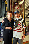AUG. 11, 2012 - MERRICK, NEW YORK, U.S. - BETTY TUCKER and her husband LENNY TUCKER, a member of American Legion Merrick Post 1282, are by American Legion memorabilia at barbecue the post hosted for vets from Long Island State Veterans Home at Stony Brook University.