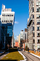 US, New York City. View from the High Line park.