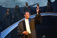"""August 26, 2011 (Washington, DC)    Actor Clifton Davis performs a rousing scene from """"M.L.K.: A Monumental Life"""" tribute to Martin Luther King Jr. at the D.A.R. Constitution Hall in Washington.  The event, presented by Alpha Phi Alpha Fraternity, was a theatrical and musical celebration honoring Dr. King.  (Photo by Don Baxter/Media Images International)"""