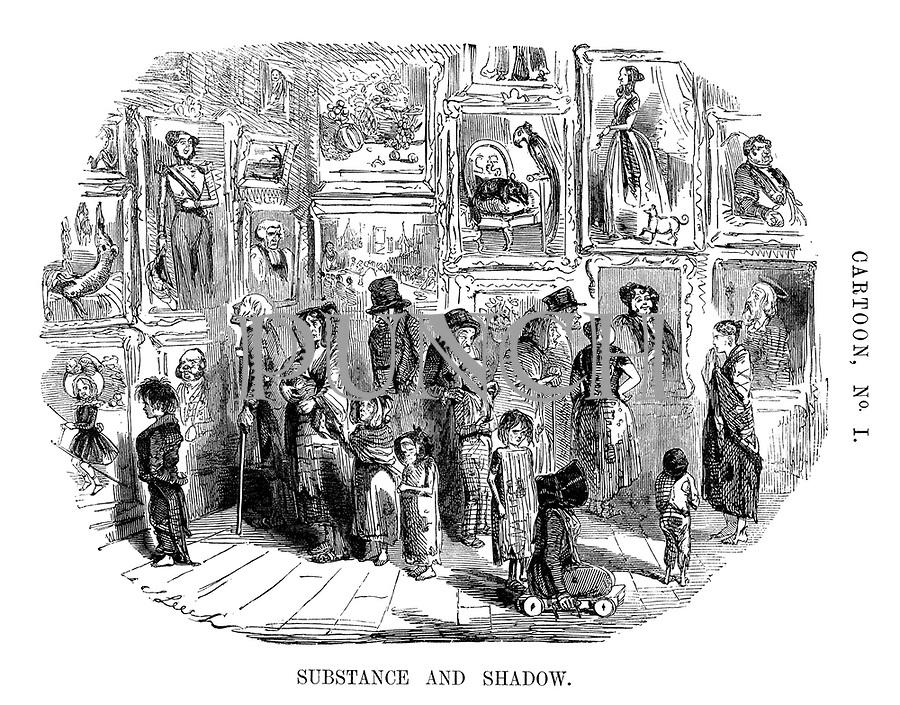 Cartoon, No. 1. Substance and Shadow.
