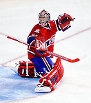 10 February 2010: Montreal Canadiens' goaltender Carey Price in action against the Washington Capitals at the Bell Centre in Montreal, Quebec, Canada. The Canadiens defeated the Capitals 6-5 in sudden death overtime, ending Washington's team-record winning streak at 14 games. Mandatory Credit: Ed Wolfstein Photo