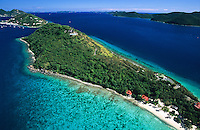 Aerial view of Little Thatch Island<br /> British Virgin Islands