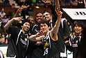 Toyota Alvark team group, .APRIL 22, 2012 - Basketball : .JBL FINALS 2011-2012 GAME 4 .between Aisin Sea Horses 64-83 Toyota Alvark .at 2nd Yoyogi Gymnasium, Tokyo, Japan. . With this victory Toyota Alvark won their first championship in 5 years.(Photo by YUTAKA/AFLO SPORT) [1040]