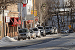 WINSTED, CT- 01 JANUARY 2008 --010109JS01-Some local businesses located on Winsted's Main Street, are upset about the towns decision to eliminate the job of Georgi Andrews, the town's parking enforcement attendant. They say the Andrews kept residents from parking in spaces for customers.<br /> Jim Shannon / Republican-American