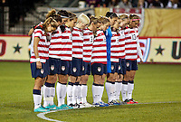 USWNT observe a moment of silence before the match. USWNT played played a friendly against Ireland at JELD-WEN Field in Portland, Oregon on November 28, 2012.