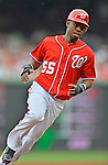 2 September 2012: Washington Nationals' outfielder Eury Perez in action against the St. Louis Cardinals at Nationals Park in Washington, DC. The Nationals edged out the visiting Cardinals 4-3, capping their 4-game series with three wins. Mandatory Credit: Ed Wolfstein Photo