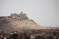 Wednesday 15 July, 2015: A view of the fortress at the top of Dammaj valley is seen in the northern province of Sa'dah, the stronghold of the Houthi movement in Yemen. (Photo/Narciso Contreras)