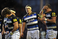 Tom Ellis of Bath Rugby looks on, on the occasion of his first Premiership start. Aviva Premiership match, between Leicester Tigers and Bath Rugby on November 29, 2015 at Welford Road in Leicester, England. Photo by: Patrick Khachfe / Onside Images