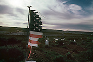 May 6th to 13th, 1985 in Navajo Reserve, AZ. Navajo Veterans Cemetary in Fort Defiance, AZ. The soldiers from the Navajo Tribe that died in  World War I, World War II, Korean and Vietnam war are burried here. For superstitious reasons the Navajo people dont like return to visit the cemeteries.