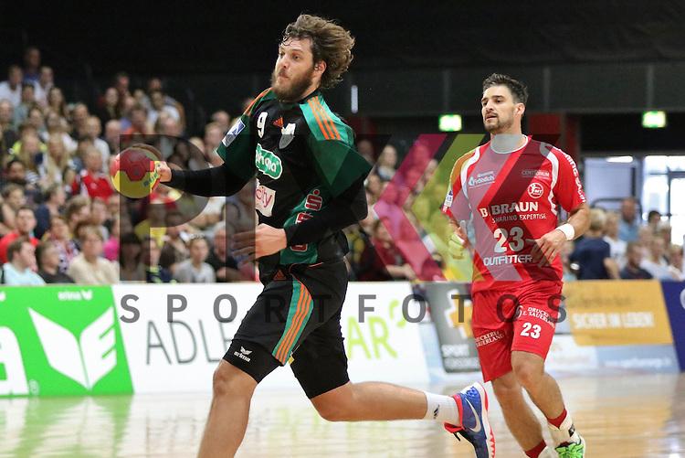 Bremen, 09.08.15, Sport, Handball, Erima-Cup 2015, MT Melsungen-TSV Hannover-Burgdorf : Mait Patrail (TSV Hannover-Burgdorf, #09), Nenad Vuckovic (MT Melsungen, #23)<br /> <br /> Foto &copy; P-I-X.org *** Foto ist honorarpflichtig! *** Auf Anfrage in hoeherer Qualitaet/Aufloesung. Belegexemplar erbeten. Veroeffentlichung ausschliesslich fuer journalistisch-publizistische Zwecke. For editorial use only.