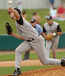04 Jun 2006 Lincoln, NE Manhattan University starting pitcher Josh Santerre during the NCAA Baseball Regionals at Hawks Field at Haymarket Park in Lincoln, Ne Sunday afternoon.(Chris Machian/Prairie Pixel Group)