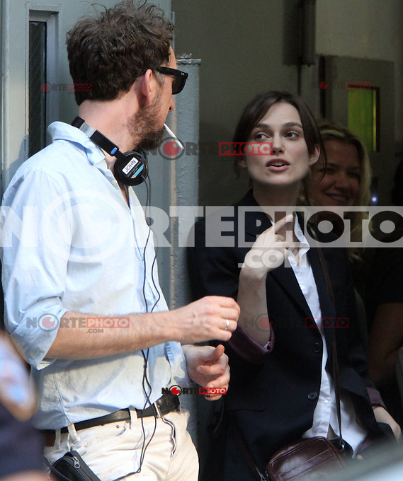 July 12, 2012 Director John Carney and Keira Knightley shooting on location for new VH-1 movie Can a Song Save Your Life? in New York City. &copy; RW/MediaPunch Inc. /*NORTEPHOTO*<br />