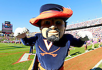 Oct. 22, 2011 - Charlottesville, Virginia - USA; TheVirginia Cavaliers mascot during an NCAA football game against the North Carolina State Wolfpack at the Scott Stadium. NC State defeated Virginia 28-14. (Credit Image: © Andrew Shurtleff/