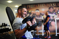 Dan Bowden of Bath Rugby in the gym. Bath Rugby pre-season training on June 21, 2016 at Farleigh House in Bath, England. Photo by: Patrick Khachfe / Onside Images