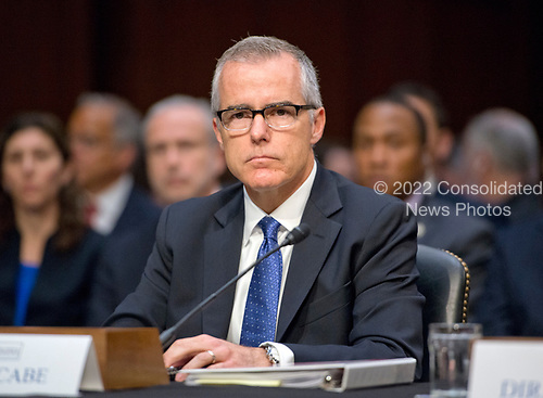 Acting Director of the Federal Bureau of Investigation (FBI) Andrew McCabe testifies before the United States Senate Select Committee on Intelligence for an open hearing titled &quot;Worldwide Threats&quot; on Capitol Hill in Washington, DC on Thursday, May 11, 2017.  <br /> Credit: Ron Sachs / CNP<br /> (RESTRICTION: NO New York or New Jersey Newspapers or newspapers within a 75 mile radius of New York City)