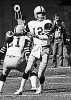 Jim McMillan HamiltonTiger Cats quarterback 1975. Copyright photograph Scott Grant