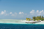 Munafushi Kandu, Laamu Atoll, Maldives; a private residence on a small, tropical island in the Indian Ocean near the Munafushi Kandu