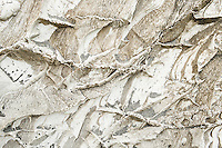 Quartz veins on rock on Harihari beach, South Westland, West Coast, New Zealand