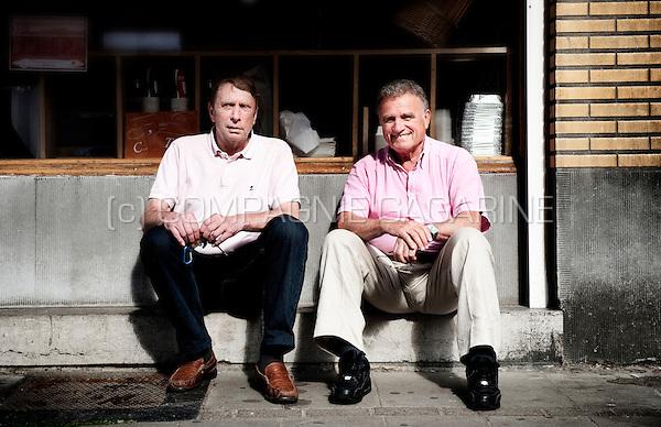 Former Belgian football players Gilbert Van Binst and Georges Heylens (Belgium, 20/06/2013)