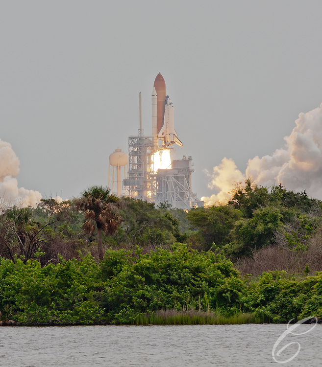 Space Shuttle Atlantis lifts off for the final time  from lunch pad 39A at Kennedy Space Center on Friday, July 8, 2011.  Atlantis' mission is the final one of the shuttle program's 30 year history and leaves NASA without manned spaceflight launch capability.