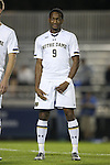 17 October 2014: Notre Dame's Leon Brown. The Duke University Blue Devils hosted the Notre Dame University Fighting Irish at Koskinen Stadium in Durham, North Carolina in a 2014 NCAA Division I Men's Soccer match. Notre Dame won the game 4-1.