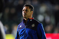 Bath Rugby Head Coach Tabai Matson looks on during the pre-match warm-up. Aviva Premiership match, between Bath Rugby and Sale Sharks on October 7, 2016 at the Recreation Ground in Bath, England. Photo by: Patrick Khachfe / Onside Images
