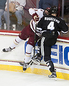 Connor Moore (BC - 7), Steven Ruggiero (PC - 4) - The Boston College Eagles defeated the visiting Providence College Friars 3-1 on Friday, October 28, 2016, at Kelley Rink in Conte Forum in Chestnut Hill, Massachusetts.The Boston College Eagles defeated the visiting Providence College Friars 3-1 on Friday, October 28, 2016, at Kelley Rink in Conte Forum in Chestnut Hill, Massachusetts.