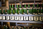 Photo shows some of the aged sake standing in a special cellar inside Suehiro Sake Brewery in Aizu-wakamatsu City, Fukushima, Japan on 15 March 2013.  Photographer: Robert Gilhooly