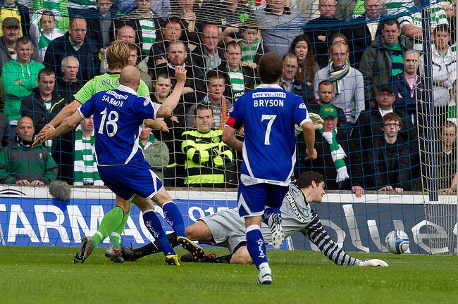 Conor Sammon opens the scoring for Kilmarnock
