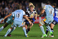 Ben Williams in possession. Aviva Premiership match, between Bath Rugby and Northampton Saints on September 14, 2012 at the Recreation Ground in Bath, England. Photo by: Patrick Khachfe / Onside Images