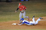 Oxford High's Michael Bianco (1) is safe at third vs. Lafayette High in Oxford, Miss. on Thursday, March 14, 2013. Oxford won 19-9.