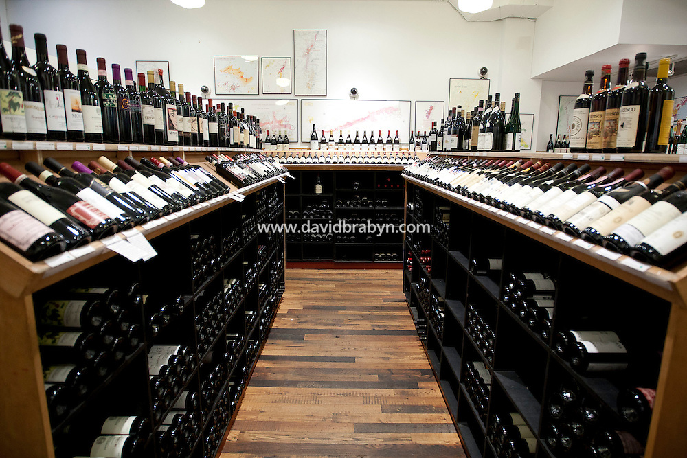 View inside Chambers Street Wines in New York, NY, USA, 22 May 2009. The store specializes in naturally made wines from artisanal small producers and has received a Slow Food NYC Snail of Approval.