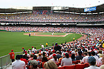 A Memoral Day crowd of nearly 40,000 watches the game on Monday, May 30, 2005. The Washington Nationals defeated the Atlanta Braves 3-2 at RFK Stadium in Washington, DC.